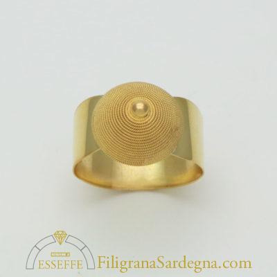 Anello a fascia con corbula filigrana