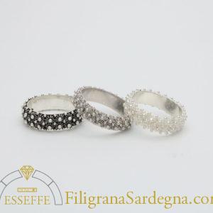 fede sarda a nido d'ape ( 2 file) in argento