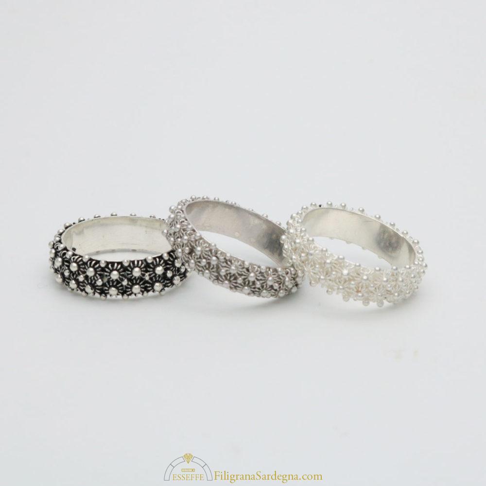 Anello fede fedina sarda filigrana argento