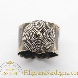 Anello - fede sarda con corbula in filigrana argento 3