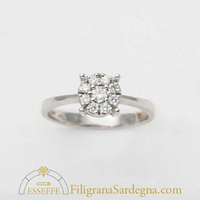 Anello con diamantini