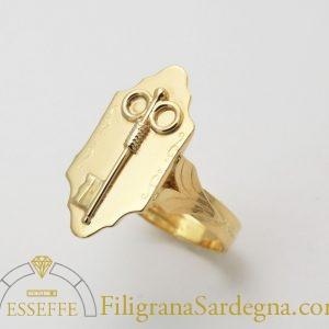 Anello con la chiave in oro (grande)filigrana