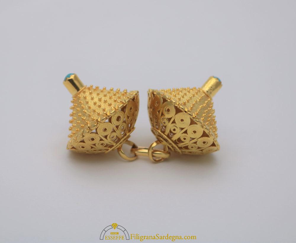Bottoni sardi in oro antichi , Gioielli Sardi Filigrana Sardegna , Esseffe  Dorgali Laboratorio Orafo Francesco Serra