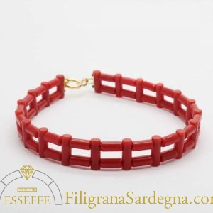 "Bracciale con corallo ""cannettine"""