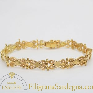 Bracciale con moduli in filigrana