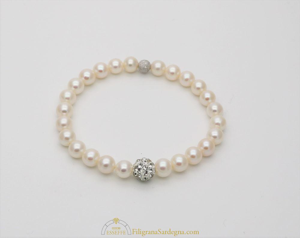 a basso prezzo b3944 fd705 Bracciale con perle bianche