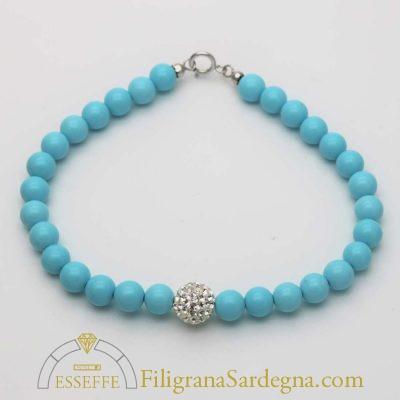Bracciale con turchese blu tiffany