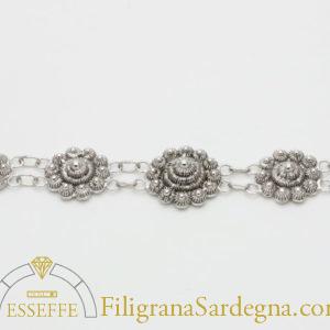 Bracciale in argento con lavorazione a nido d'ape