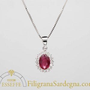 Ciondolo con rubino e diamanti