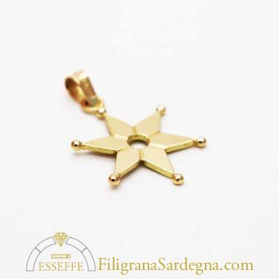 Ciondolo in oro con la stella della Sartiglia