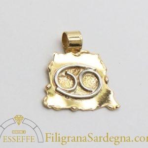Ciondolo in oro con segno zodiacale
