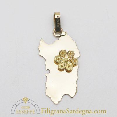 Ciondolo Sardegna con rosetta in filigrana