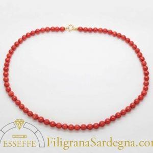 Collana corallo Sardegna 7 mm