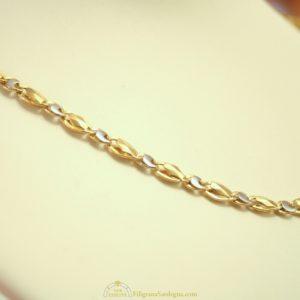 Collana in oro giallo e bianco