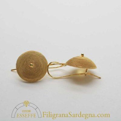 Corbule a monachella in oro da 1,5 cm