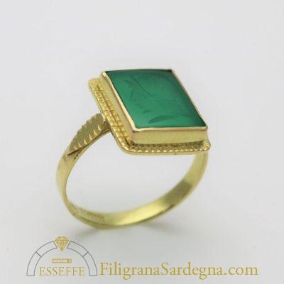 Corniola verde quadrata