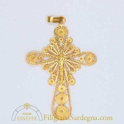 Croce in filigrana grande con Cristo