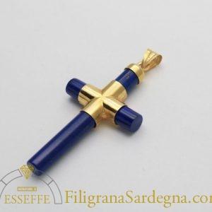 Croce in oro e lapislazzuli