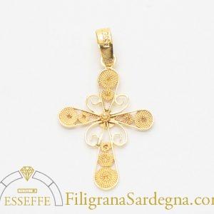 Croce piccola in filigrana d'oro