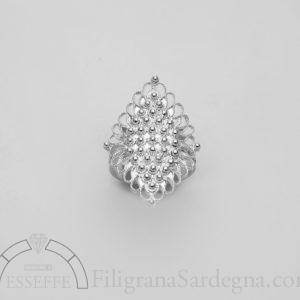 fede sarda in filigrana d'argento interamente realizzata a mano