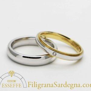 Fedi matrimoniali con brillantino