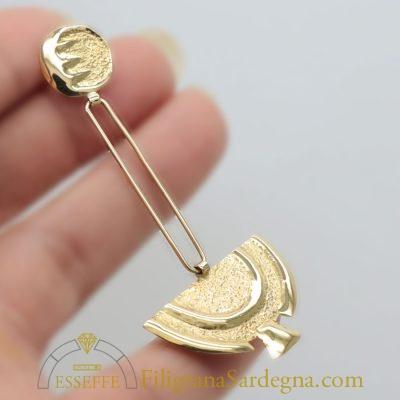Orecchini d'oro con mezza luna