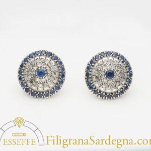 Orecchini di gioielleria borbonica con zaffiri e diamanti
