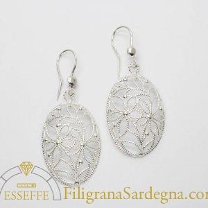 Orecchini floreali in filigrana d'argento