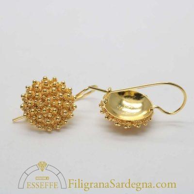Orecchini in oro a nido d'ape medi