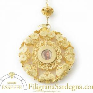 Patena del rosario (grande) in filigrana